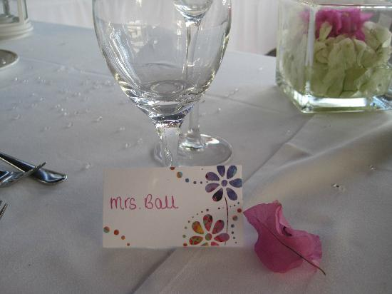Nissi Beach Resort: Wedding table decor