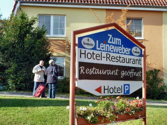 Hotel zum Leineweber: Eingang