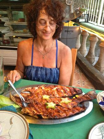 Mariscos Tino´s- La Laguna: Grilled snapper - enough for lunch for a few days