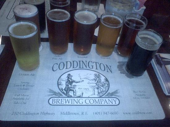Coddington Brewing CO: Beer flight - highly recommend!