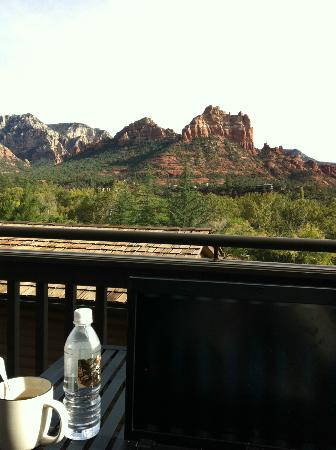 L'Auberge de Sedona: View from veranda of suite