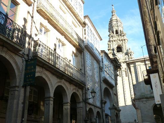 Hotel Rua Villar: Calle peatonal