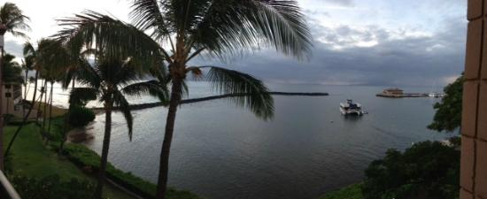 Maalaea Yacht Marina: view from lanai at sunrise