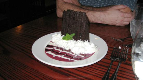 """The Cattle Baron: the fantastic dessert my son and daughter-in-law shared! """"Chocolate Utopia"""" is an apt name..."""