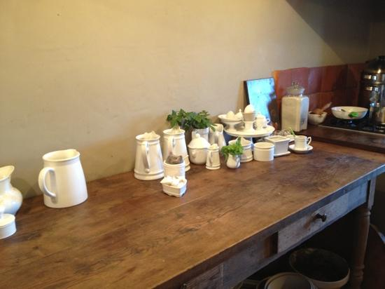 Hugo a la Campagne : a small part of Christine's beautiful white porcelain collection!
