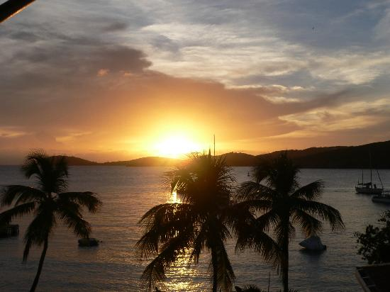Marriott's Frenchman's Cove: sunset from our room in Virgin Gorda wing