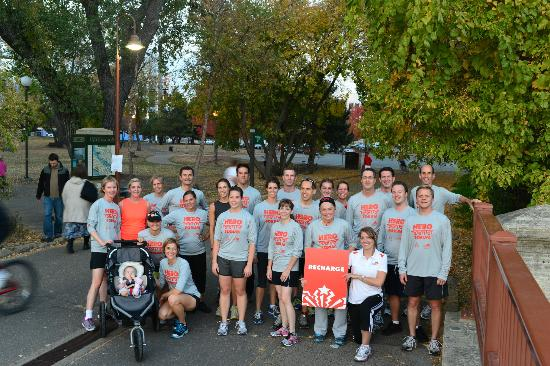 Minneapolis, MN: CRT leads an excited group of runners