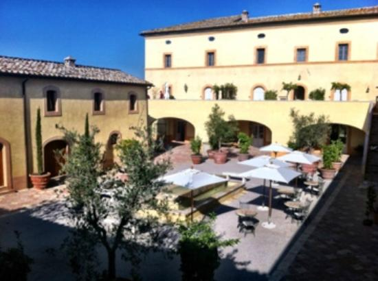 Castello di Casole Private Estate & Spa: The courtyard