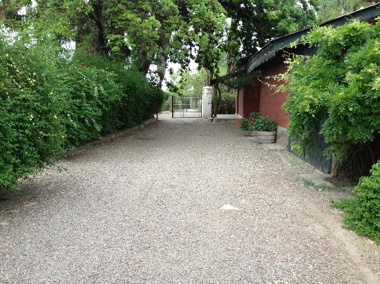 Bodega Cavagnaro: pathway to guest house