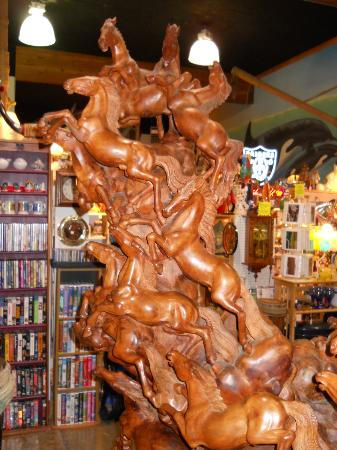Pirates Plunder: Hand carved HORSE STATUE for sale