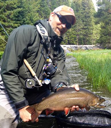 Dan Anthon's Just Add Water Fly Fishing-Day Tours: Dan with a Big Brook Trout From the Upper Deschutes