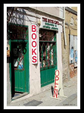 The Book Cave : Book Cave doorway at 9 Opalchenska Street in Veliko Tarnovo