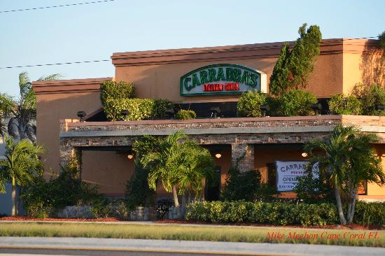 Carrabba's Italian Grill: View from Pine Island Road.