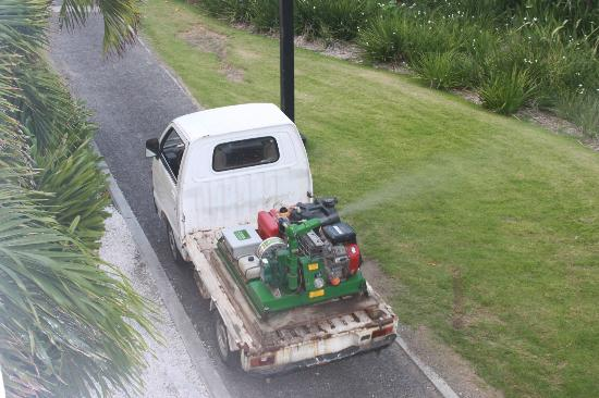 Club Med Punta Cana: Pesticide spray beneath the balcony