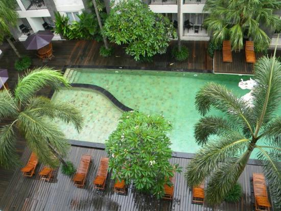 ‪‪Bali Kuta Resort & Convention Center‬: View of pool from our room balcony