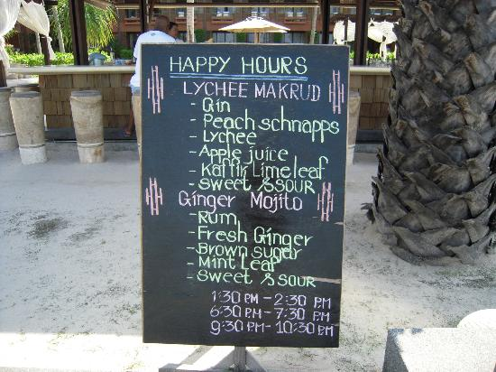 Hansar Samui Resort: Happy hour