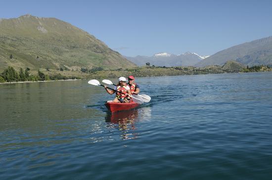 Kayaking on Lake Wanaka near Edgewater