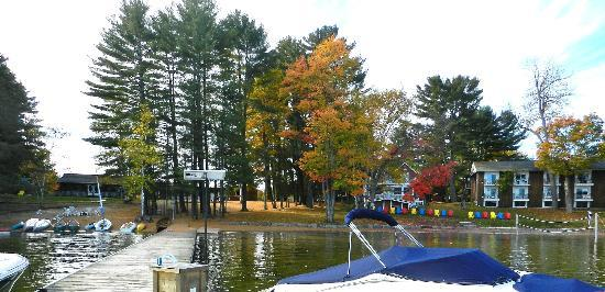 Shamrock Lodge: View from dock looking at Lodge