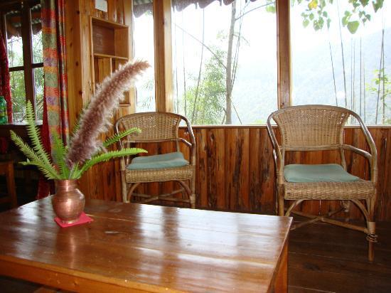 Neora Valley Jungle Camp: the enclosed balcony
