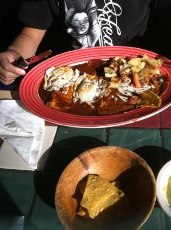 Sal's Tacos and Mexican Restaurant: enchiladas with egg