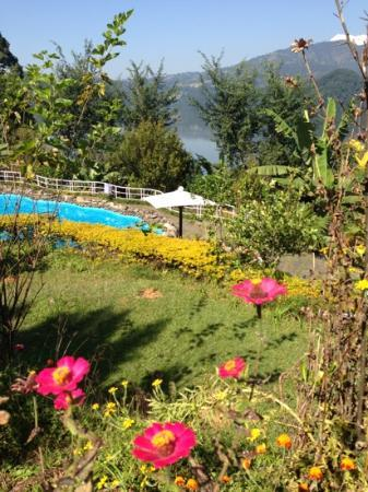 Begnas Lake Resort: the pool with a view of Anapurna