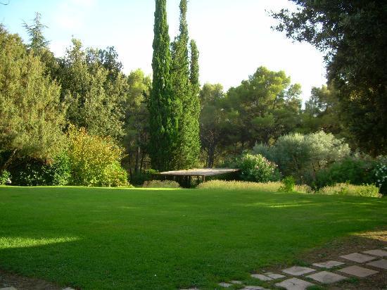 Les Cancades : Une pelouse bien verte, très rare dans le sud!