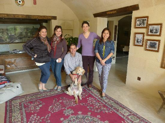 Fresco Cave Suites/Cappadocia: with Gamze, her husband, and their adorable dog