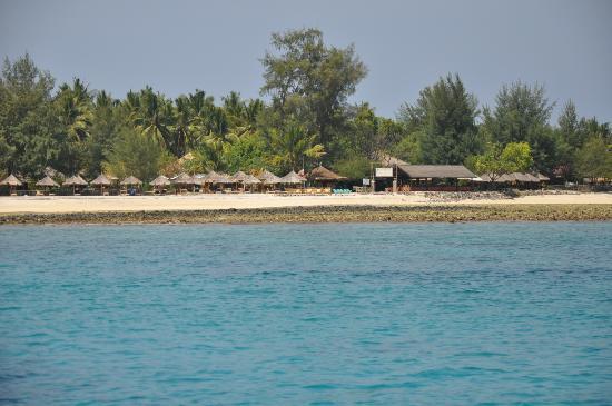 Gili Air Resort: vista dal mare