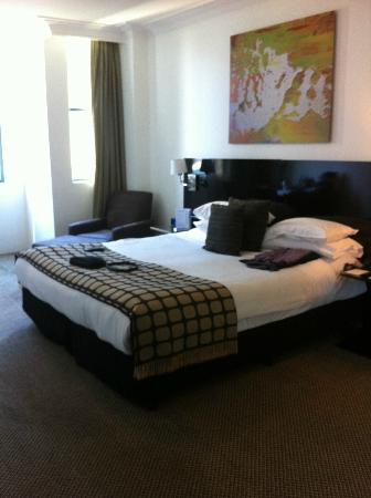 Rydges Sydney Central: Bed looks good when made, but try sleeping in it.
