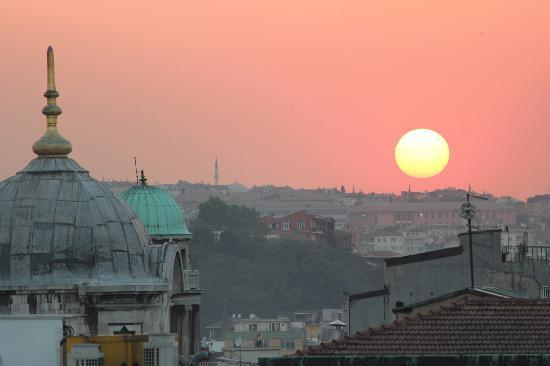 Neorion Otel: Sunset from the rooftop terrace