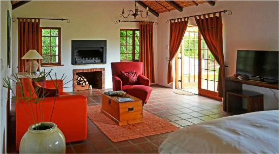 Fraai Uitzicht 1798 : The sitting room area with wide screen DSTV and fireplace