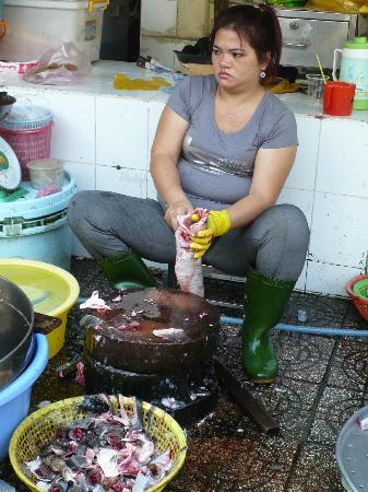 Kursus masak - Saigon Cooking Class: at the market