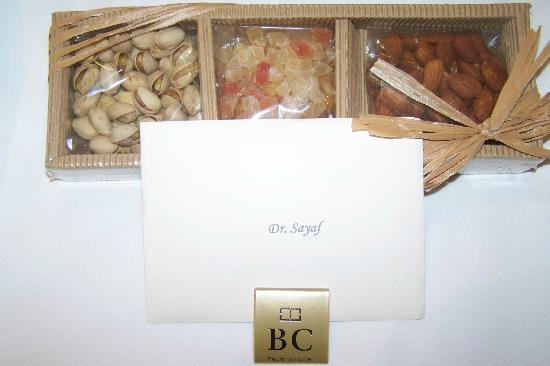 The Brazilian Court Hotel: Welcome Gift (Leading Hotel Affil.)