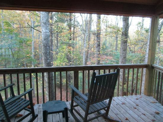 Asheville Cabins of Willow Winds: lovely view from the balcony