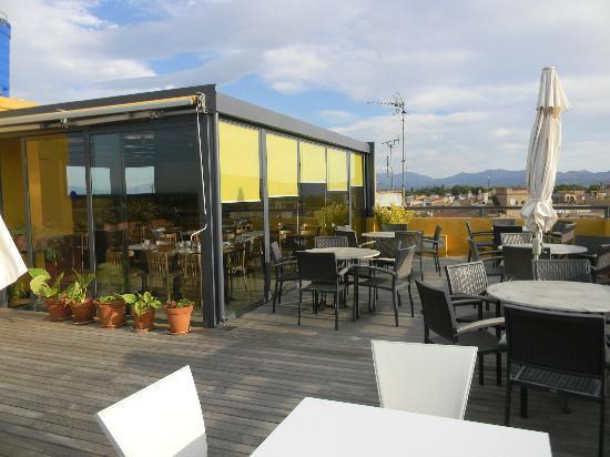 Hotel Canet : la terrasse