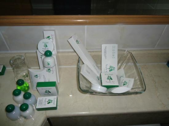 Hotel Parque 97 Suites: Kit de barbear, fio dental, touca de banho, lenço de papel, lustrador de sapatos e etc.