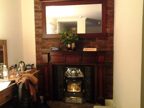 Rhins of Galloway: lovely fireplace in our room