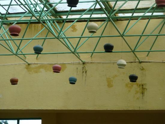 Gem Park-Ooty: Dodgy plaster on pool walls