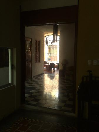 Luz En Yucatan: Long hall and passageway