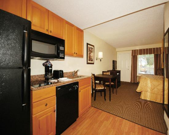 MainStay Suites: Standard King Efficiency with Fully Equipped Kitchen and Balcony