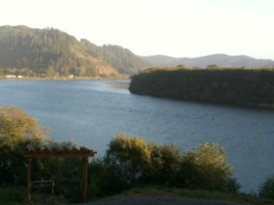 Historic Requa Inn: View of Klamath River from Requa Inn front porch.