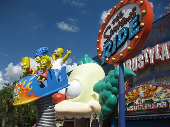 Universal Studios Florida: Awesome Simpsons 4D ride