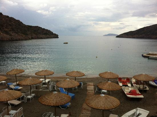 Daios Cove Luxury Resort & Villas: VIEW FROM THE POOL