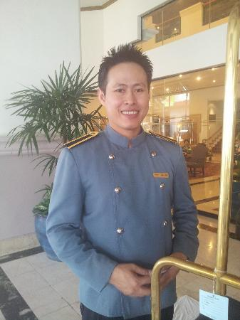 Arnoma Grand Bangkok: One of the lovely concierge staff