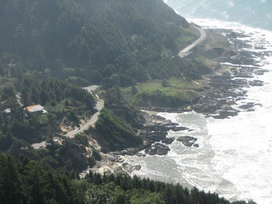 Yachats, Орегон: View from the top of Cape Perpetua