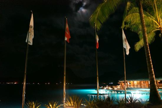 The St. Regis Bora Bora Resort: St. Regis Flags