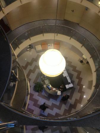 Hotel Fiera: vista dall'alto verso la Hall