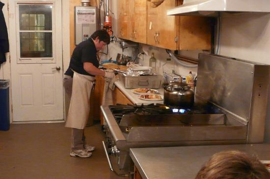 Frontiers North Adventures' Tundra Buggy Lodge: Chef prepares meals for 40 in this kitchen