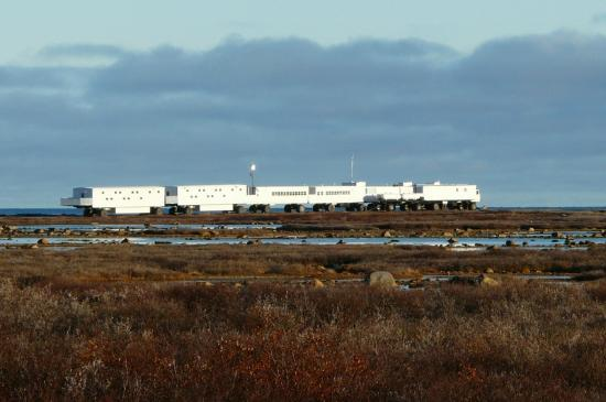 Frontiers North Adventures' Tundra Buggy Lodge: View of the lodge from across the tundra
