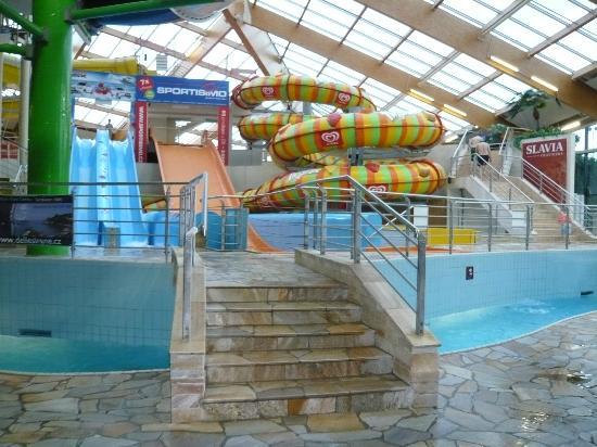 Aquapalace Hotel Prague: Rutschenbereich